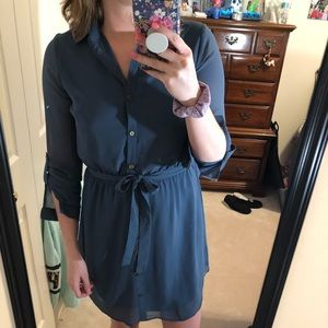 Charlotte Russe midi blue dress